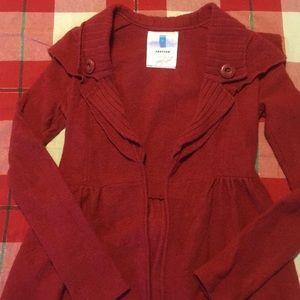Small Red Sparrow Wool Sweater